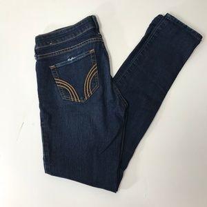 Hollister Dark Wash Distressed Super Skinny Jeans